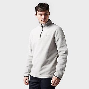 Weird Fish Men's Errill Â1/4 Zip Textured Fleece Sweatshirt Wit