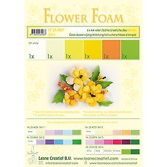 Leane Creatief Flower Foam A4 Set 4 Yellows