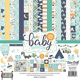 Echo Park Hello Baby Boy 12x12 Inch Collection Kit