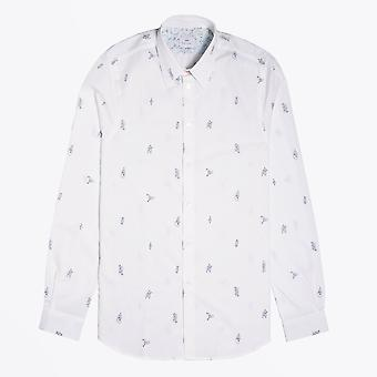 PS Paul Smith  - Climbers Knots Print Shirt - White
