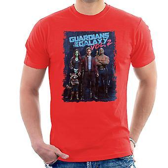 Marvel Guardians Of The Galaxy Vol 2 Poster Design Men's T-Shirt