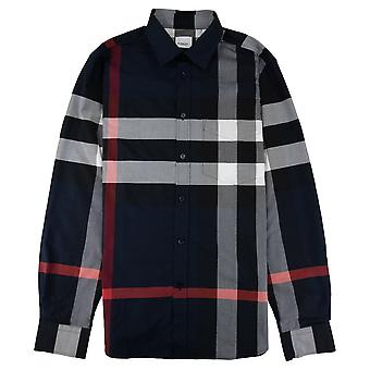 Burberry Check Poplin Shirt Marine