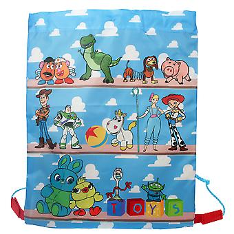 Disney Pixar Toy Story 4 Toys On Shelf Drawstring Sports Trainer Bag