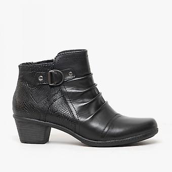 Earth Spirit Seymour Ladies Leather Ankle Boots Black