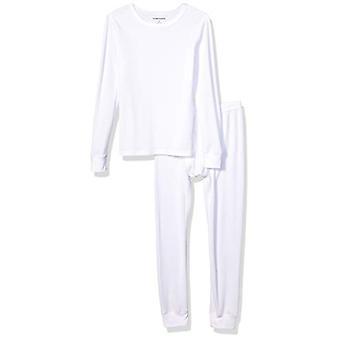 Essentials Boy's Toddler Thermal Long Underwear Set, White, 2T