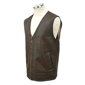 Eastern Counties Leather Mens Giles Sheepskin Gilet