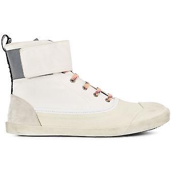 Lanvin Ezcr054001 Men's vitt tyg Hi Top Sneakers