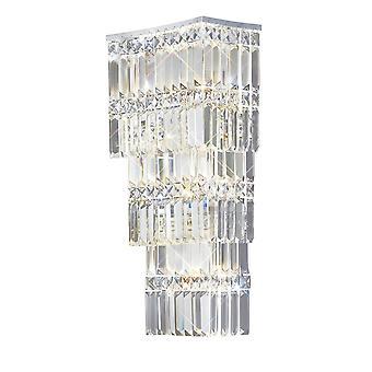 Seinävalaisin 4 kevyt kiillotettu kromi, kristalli