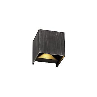 Luminosa Lighting - Up & amp; Downward Lighting Wandleuchte, 2 x 3W LED, 3000K, 400lm, IP54, Schwarz, Silber