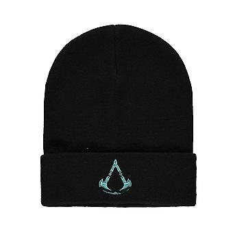 Assassins Creed Valhalla Beanie Hat Logo new Official Black