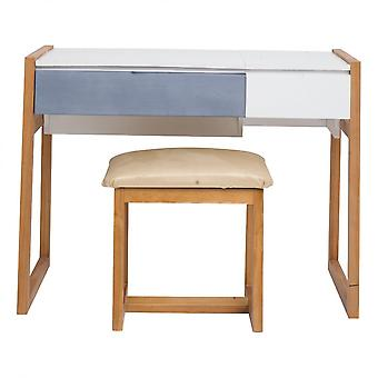 Rebecca Furniture Console Table 1 Sitting 2 Modern Wood Drawers 72.5x97x45.7
