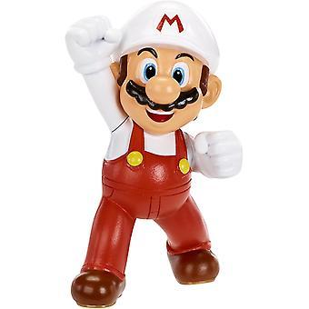 "Fire Mario (Super Mario) World Of Nintendo 2.5"" Action Figure"