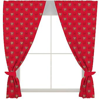 Arsenal FC Crest Tab Top Curtains (Pack of 2)