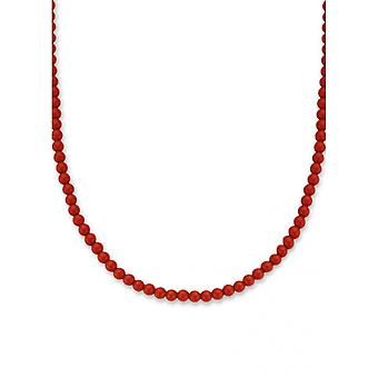 Ti Sento necklace 3916CR - silver stone synth. Red Woman