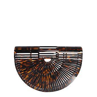 Cult Gaia 20003actrt Women-apos;s Brown Acrylic Handbag