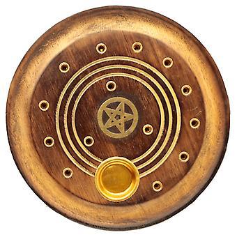 Dekorative Runde Pentagramm Holz Weihrauch Brenner Ash Catcher X 1 Pack