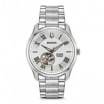Bulova 96a207 Wilton Silver Stainless Steel Automatic Men's Watch