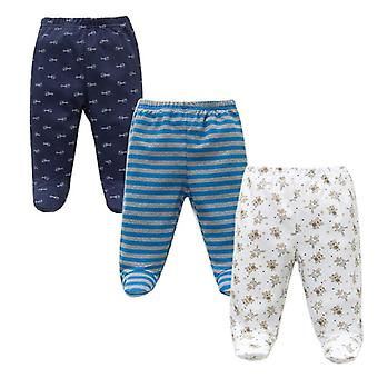 Spring Autumn Footed Baby Pants 100% Cotton Clothes Unisex Casual Bottom Pp