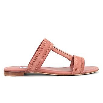 Tod's Pink Slipper em Camurça Macia