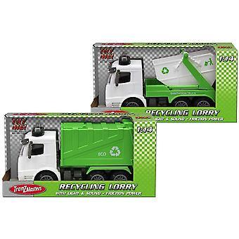 Tranzmasters Recyklace nákladní automobil se světlem a zvukem (jeden dodáván)