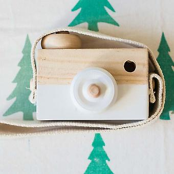 Cute Nordic Hanging Wooden Camera- Kids 9.5*6*3cm Room Decor, Mobilier