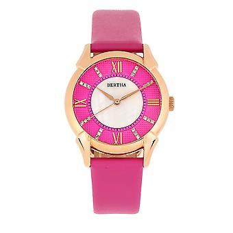 Bertha Ida Mother-of-Pearl Leather-Band Watch - Pink