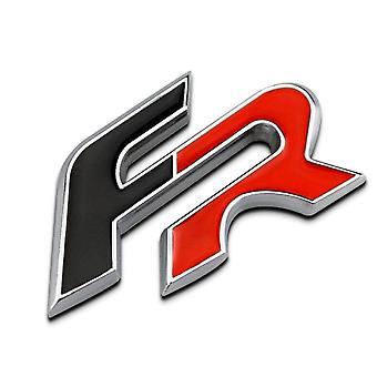 Red/Black Seat FR Lettering Rear Boot Badge Emblem For Ibiza Leon Mii Altea