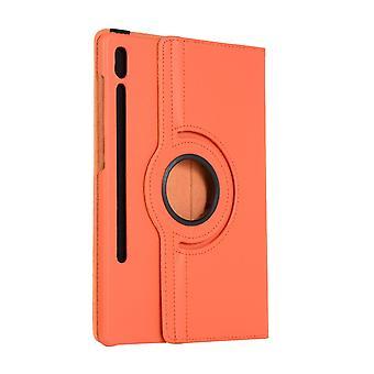 Rotatable folio leather case for Samsung Galaxy Tab A 8.0 2019 T295 Orange