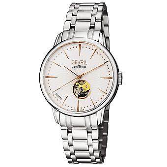 Gevril Men's Mulberry Silver Dial  Watch