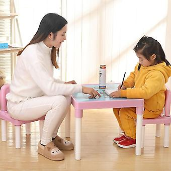 Plastic Kids Table And 2 Chairs Set,   Table And Chairs Environmentally
