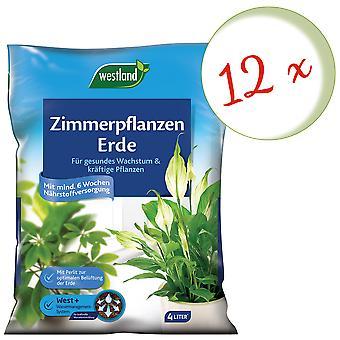 Sparset: 12 x WESTLAND® houseplants earth, 4 liters