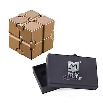 Metal Infinity Magic Cube- Finger Antistress Anxiety Relaxing Tool