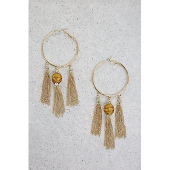 Golden Nebula Earrings In Gold