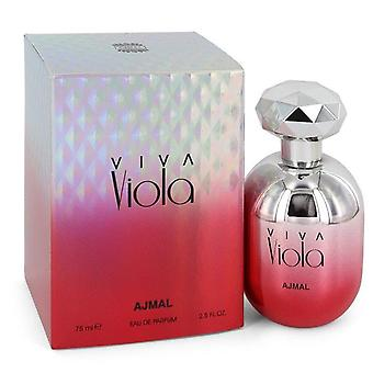 Viva Viola Eau De Parfum Spray By Ajmal 2.5 oz Eau De Parfum Spray