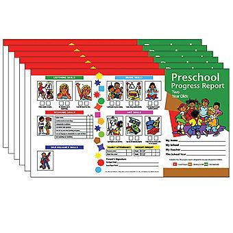 Preschool Progress Report, Two Year Olds, 10 Per Pack, 6 Packs