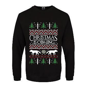 Grindstore Mens Julen Kommer Christmas Jumper