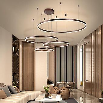 Postmodern Led Circle Diy Chandelier Light Fixtures For Home
