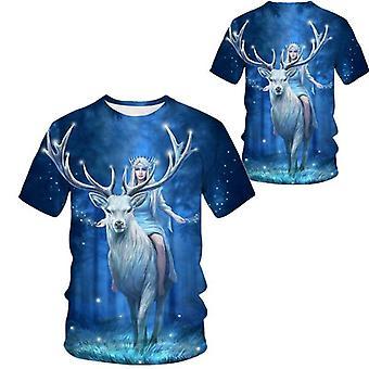 Nycool 3d Animal Printed Hip Hop Spoof Lyhythihainen T-paita Miesten rullalautailu