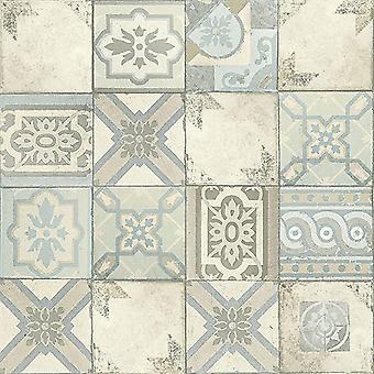 Facade Moroccan Tile Wallpaper