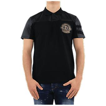 Balmain Polo Shirt W/Badge Black VH1GB009246J0PA Top