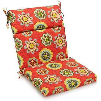 Coussin de chaise arrière/siège carré extérieur en polyester de 18 pouces par 38 pouces - Terrasse Farrington