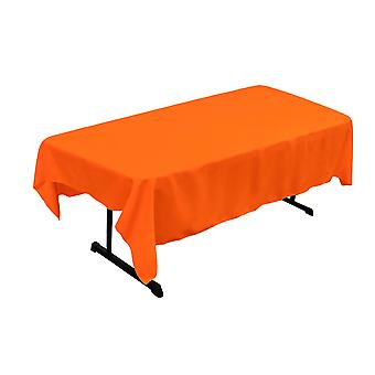 La Leinen Polyester Poplin 60 von 84-Zoll rechteckige Tischdecke, Orange