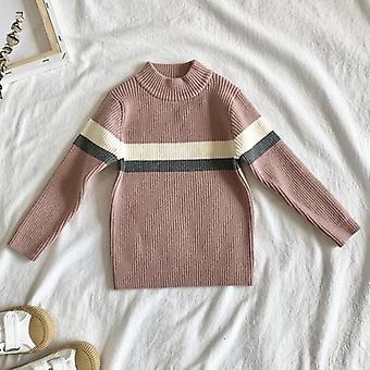 Jesenné zimné nové deti s dlhým rukávom pletené hviezda sveter