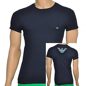Emporio Armani Eagle coton Stretch Crew Neck T-Shirt, Marine, XL