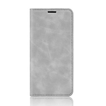 Magnetic Soft Leather Case for Oppo Realme 6 - Gray