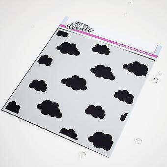 Heffy Doodle Tête dans les nuages pochoir