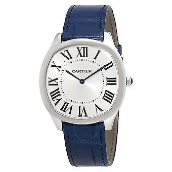Cartier Drive de Cartier Extra-Flat Män & Hand Wound Watch WSNM0011