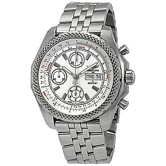 Breitling Bentley GT II Chronograph Automatic Chronometer White Dial Men's Watch 1336512-A736SS