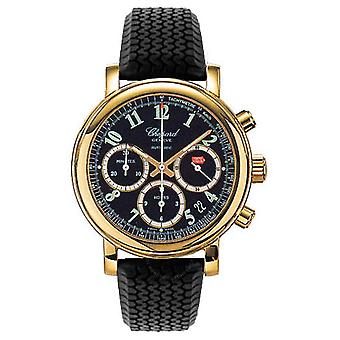 Chopard Mille Miglia 18k Yellow Gold Black Rubber Chronograph Men's Watch 16/1250-99