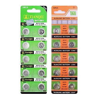 10buc 1.55v Ag10 Lr1130 389 Sr1130 Baterii buton 189 Lr54 Celulă Monede alcaline